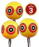 De-Bird - Ballons Repulsif - Anti Pigeon Effaroucheur d'Oiseaux - pour éloigner Pigeons, Corbeau et plus - à utiliser avec ultrason/pic/filet - Paquet de 3