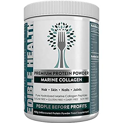 Premium Marine Collagen Powder - 5X Cheaper + 15x Stronger Than Shots or Capsules - 13,000mg - Best Hydrolysed Protein for Hair, Skin, Nails, Wrinkles, Joints, Gut. Keto, Paleo, Kosher, Halal