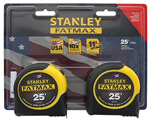 small Stanley Consumer Tool FMHT74038 Tape measure Fatmax 25 feet (2 pcs)