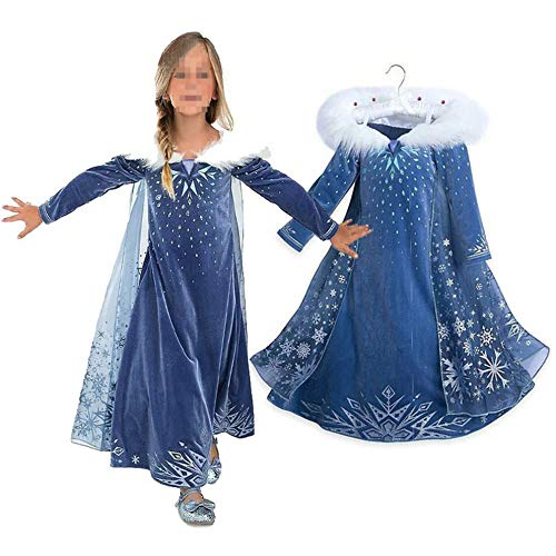 Princess Cosplay Kostuum, Cosplay Cosplay Kostuum Set tule jurk sneeuwkoningin Party Outfit Deluxe Carnival Dress
