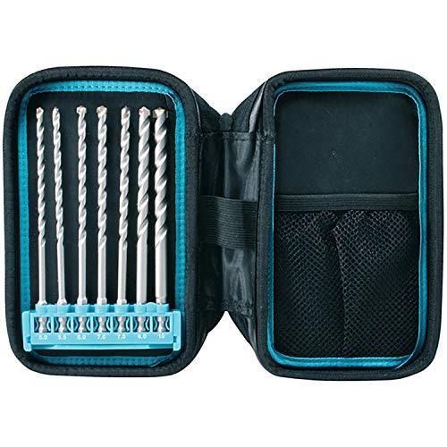 Makita P-90015 7 Piece Masonry Drill Bit Pouch Set 1/4, Silver