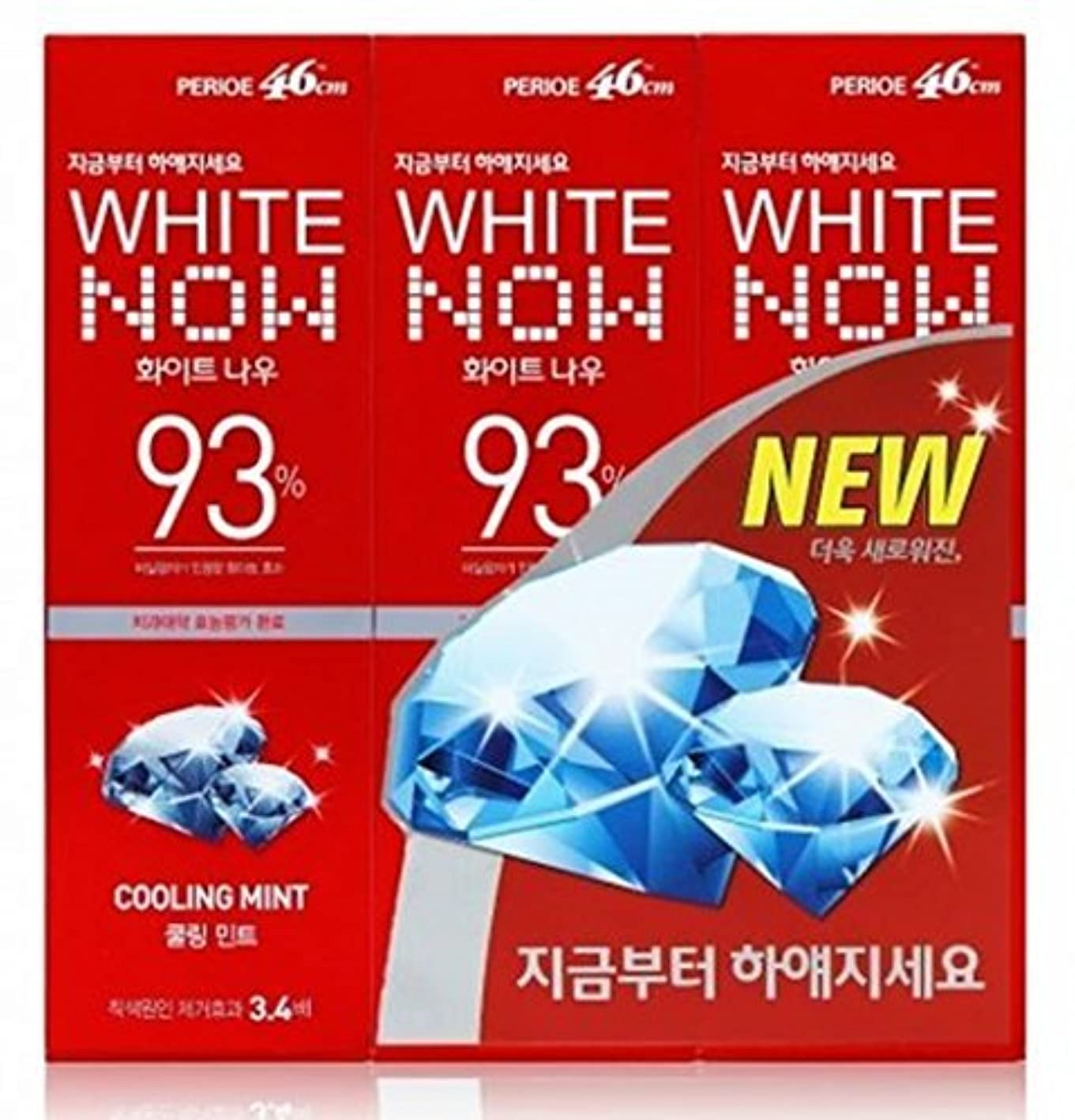レイアウト仮説郊外Lg Perioe 46cm Toothpaste Oral Care White Now 93% Cooling Mint 100g X 3 by perioe