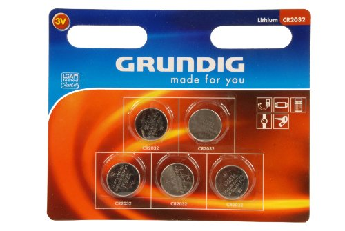 Grundig CR2032 Knopfzellen-Batterie (5-er Pack)