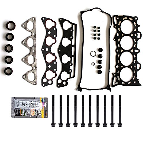 SCITOO Replacement for Head Gasket Bolts Kits for Honda Del Sol Civic HX 1.6L SOHC D16Y5 D16Y7 1996-2000 Engine Cylinder Head Gaskets Set Kit