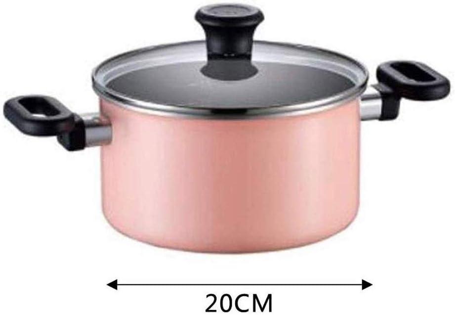 CJTMY Casserole, poêle Anti-adhésive Pot Marmite en Verre trempé Couverture au Lave-Vaisselle ménagers Rice Cooker gaz marmite à Soupe (Color : Green) Green
