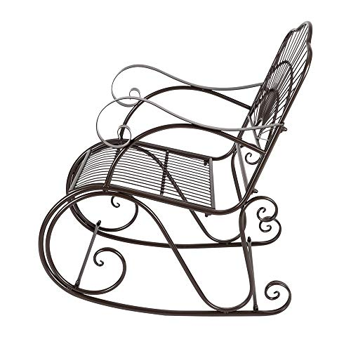 Candora Paint Sun Shape Outdoor Garden Single Iron Art Rocking Chair
