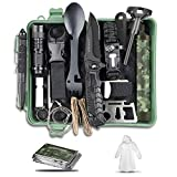 Gifts for Men Dad Boy, 18-in-1 Survival Kit with Water Filter Straw , Survival Gear Hiking Emergency Kit Cool Gadgets Survival Tools for Adventures, Camping, Hunting, Hurricane, Earthquake, Birthday
