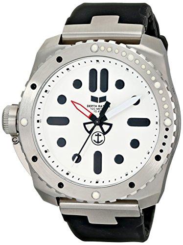 Vestal Vestal Herren rsd3s01Türriegel Edelstahl und Silikon Armbanduhr