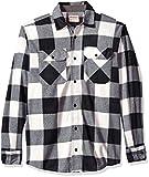 Wrangler Authentics Men's Long Sleeve Plaid Fleece Shirt, Birch Buffalo, L