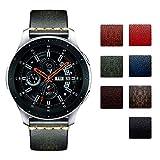 Bandas de Reloj de Repuesto compatibles con Samsung Galaxy Watch 42mm/46mm,Active 2,Samsung Gear S3 Classic/Frontier Smartwatch Correas de Reloj de Cuero curtido Vegetal frotado (20mm/22mm)
