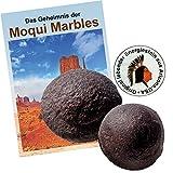 Moqui Marbles Paar ca. 2,5-3cm. MIT Zertifikat, deutschsprachigem BOOKLET 'Das Geheimnis der...
