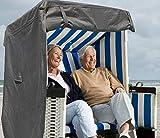 North Finest Premium Strandkorbhülle aus 600D Oxford | wasserdichte Strandkorb Schutzhülle | Atmungsaktiv | Winterfeste | Wetterfeste | Robuste...
