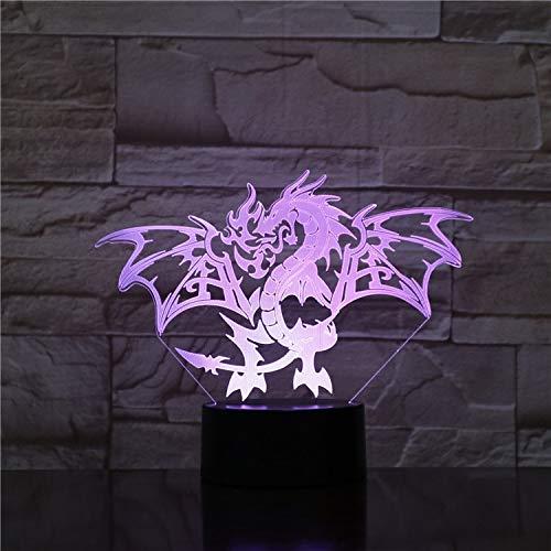 3D Tischlampe Atmosphäre Western Dragon Farben Halloween Geschenk Flugsaurier Bett 3D LED Nachtlicht Tischlampe Teenager