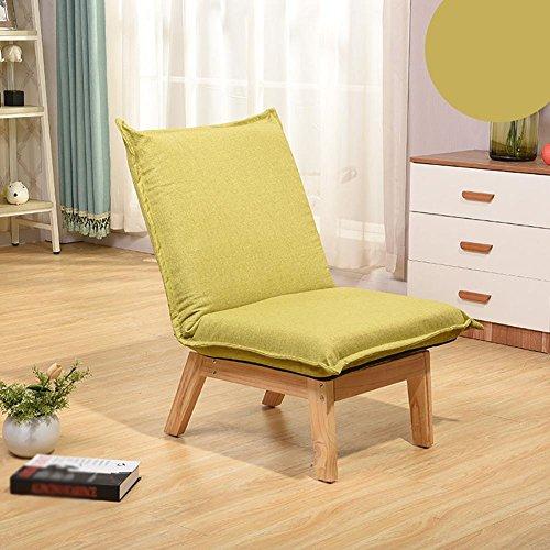 KSUNGB Canapé Lounger Individuel Chambre Pliable Chaise Longue Dortoir Chaise de Dossier de lit Petit canapé, Green
