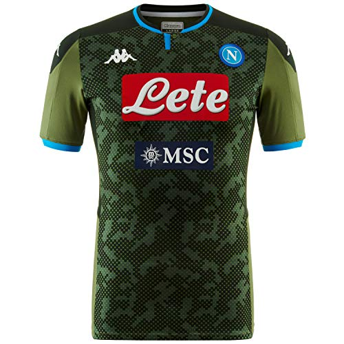 Ssc Napoli Italian Serie A Men's Away Match Shirt, Green, L