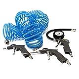 Kit de 4 piezas: Pistola de aire para soplar inflar neumáticos manguera de aire presión
