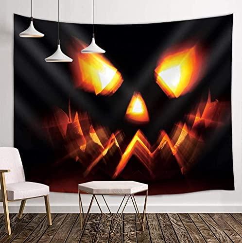 Yhjdcc Tapiz de calabaza lámpara para Halloween Personalidad Dormitorio Decoración Mandala Boho Estilo Montaje de Pared Picnic Mat Toalla de Playa Cortina Mantel 150 cm x 200 cm