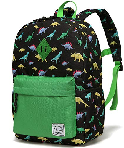 VASCHY Kids Backpack Boys Dinosaur Backpack Children's School Backpack Book Bag with Side Pockets
