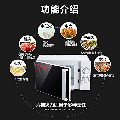L.TSA Kitchen 20L Home Use Electric Microwave Oven with Timer Bulb Parts Rotary Heating Plate