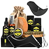 Kit Cuidado de Barba, ATMOKO 9PCS Barba Peine, Barba Cepillo, Barba...