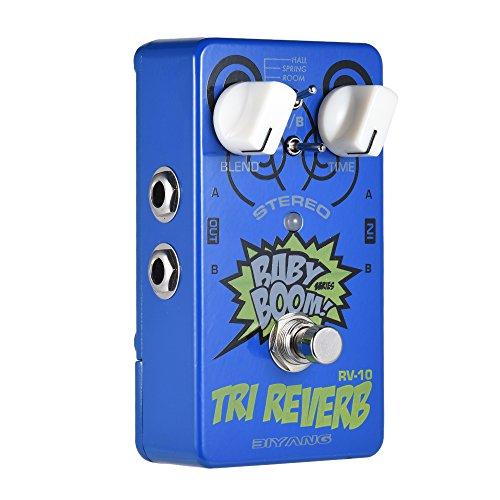 ammoon Reverb Effektgerät BIYANG RV-10 BABY BOOM Serie 3 Modi Stereo Reverb Gitarre Effektpedal True Bypass Full Metal Shell