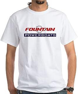 CafePress Fountain Powerboats T Shirt Cotton T-Shirt