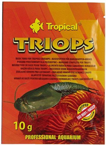 Tropical Triops Futter für Urzeitkrebse, 10er Pack (10 x 10 g)