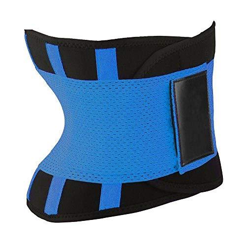 N-brand Corsé de cintura para mujer, para adelgazar, color negro, rosa, amarillo, azul