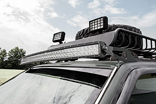 Rough Country 50' LED Windshield Brackets (fits) 1993-1998 Jeep Grand Cherokee ZJ | Light Bar Not Included | 70567