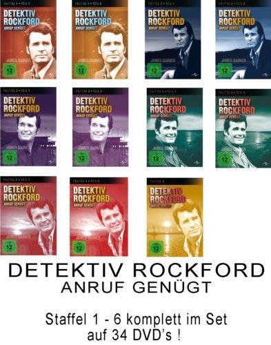 Detektiv Rockford - Anruf genügt - die komplette Serie - Staffel 1-6 im Set - Deutsche Originalware [34 DVDs]