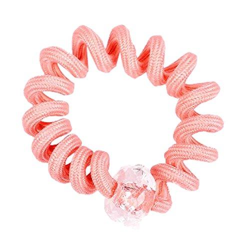 8PCS Lady cheveux élastiques Ponytail Cravates élastique Hairband, Orange
