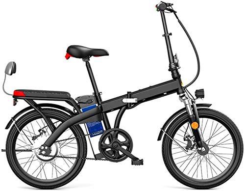 Alta velocidad 20' 250W plegable / Carbono Material Acero Ciudad de bicicleta eléctrica asistida eléctrica deporte de la bicicleta de montaña de la bicicleta con la batería de litio extraíble 48V