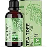 Pure Tea Tree Essential Oil - Pure Tea Tree Oil for Hair Skin and Nails plus Cleansing Oil for Face Care - Australian Tea Tree Essential Oil for Skin Dry Scalp Foot Soak and Cuticle Oil Nail Cleaner