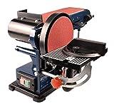 FERM Bandschleifmaschine – 350W – 150mm - einschl. 2 Schleifbänder (P80 & P120) und 2 Schleifscheiben (P80 & P120) - 5