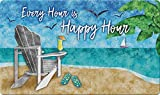 Toland Home Garden Happy Hour Beach 18 x 30 Inch Decorative Tropical Floor Mat Cocktail Doormat -...