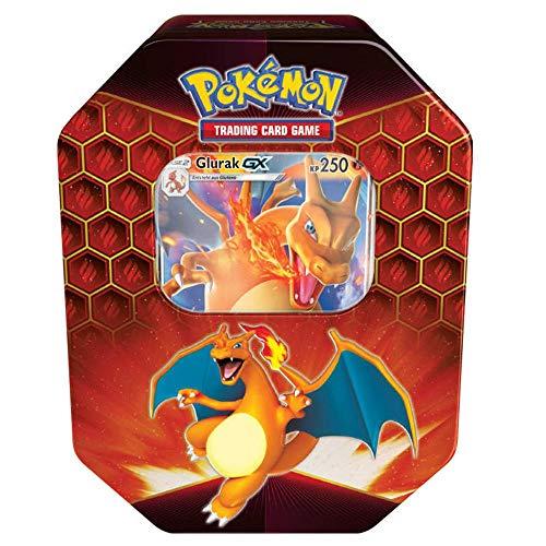 Lively Moments Pokemon Karten Tin Box Sonne & Mond Verborgenes Schicksal Glurak-GX DE Deutsch Sammelkartenspiel / Metallbox Charizard