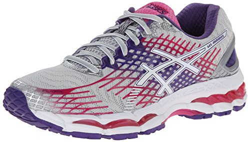 ASICS Women's Gel-Nimbus 17 Running Shoe,Lightning/White/Hot Pink,9 M US