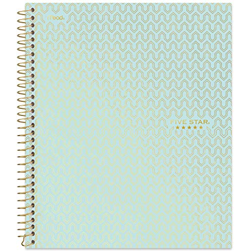 """Five Star Spiral Notebook, 1 Subject, College Ruled Paper, 100 Sheets, 11"""" x 8-1/2"""", Design Selected For You, 1 Count (06348) (Assorted Cover Design/Color)"""