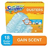 Swiffer 180 Dusters, Ceiling Fan Duster, Multi Surface Refills with Gain Scent, 18 Count