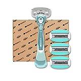 Shave It, 5-Klingen-Damenrasierer mit Griff und 4 Klingenköpfen