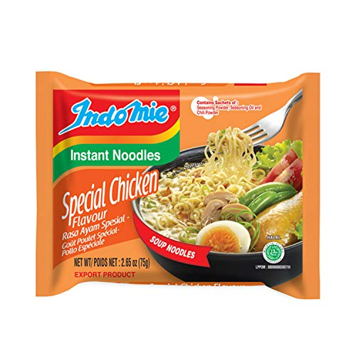Indomie Mi Goreng Instant Stir Fry Noodles, Halal Certified, Chicken Rasa Flavor (Pack of 30)
