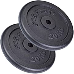 ScSPORTS 40 kg Hantelscheiben-Set 2