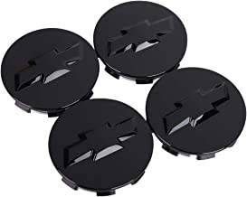 Chevrolet Center Caps Matte Black 8 Lug Wheels Replaces Part Number: 5079 15039489 4 fits Silverado Avalanche Suburban 2500 3500 Pickup Truck Suv Replacement Aftermarket Center Caps 16