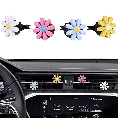 MINI-FACTORY Car Interior Decoration, Cute Colorful Bow, Rainbow, Flowers Car Charm Air Vent...