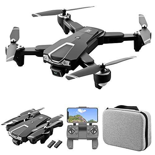 GoolRC LS-25 GPS Drone with Dual Camera, 5G WiFi FPV Drone with 6K HD Front Camera and 1080P Bottom Camera, RC Quadcopter with Optical Flow Positioning, Follow Me, Storage Bag and 2 Batteries