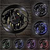 LTMJWTX Reloj de Pared con Registro de Vinilo, Reloj Colgante, decoración del hogar, álbum Marino, Registro para Acuario acuático