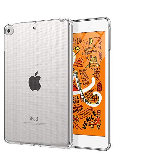 TiMOVO Hülle für New iPad Mini 5th Generation 2019, Weich klar Transparent Flexibel TPU Hülle, Schlagfest Gummi Rückseitige Schutzhülle Kompatibel mit iPad Mini 5 2019 - Transparent