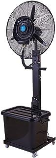 Ventilador de Pedestal Ventilador de enfriamiento Industrial Ventilador de Pedestal Cabezal del Ventilador pivotante Ajustable Agregar Agua Nebulización Ventilador silencioso para Negocios 3 velocid
