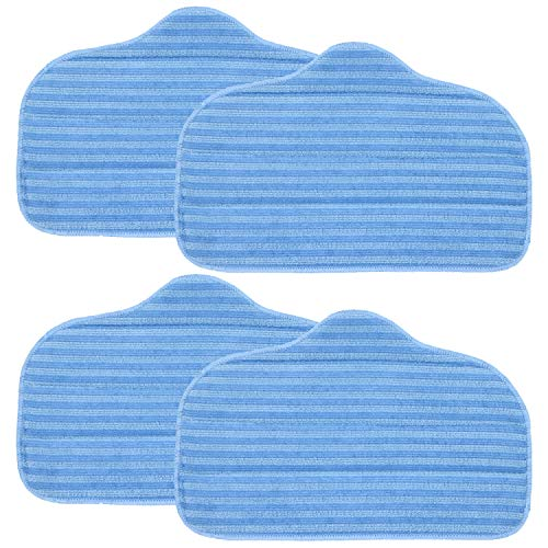 FUSHUANG 4 Pack A275-020 Microfiber Cleaning Pads Compatible with McCulloch MC1275 and Steamfast Canister steam Cleaner Models SF-275, SF-370