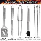 Immagine 1 grilljoy 25pc accessori barbecue utensili